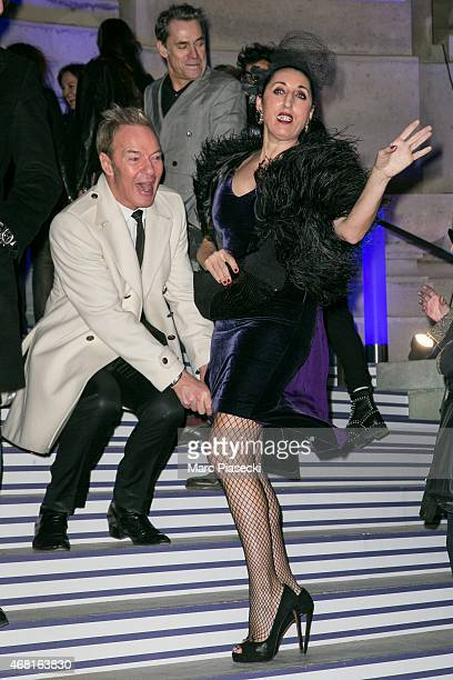 Tony Gomez and Rossy de Palma attend the 'Jean Paul Gaultier' exhibition opening cocktail at Grand Palais on March 30 2015 in Paris France