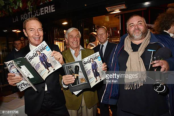 Tony Gomez from the Manko Club Gerard Idoux from Le Recamier restaurant and Olivier Malnuit from Grand Seigneur magazine attend Boeuf A La Mode...