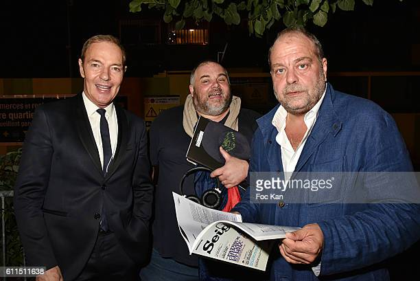 Tony Gomez from the Manko Club Olivier Malnuit from Grand Seigneur magazine and lawyer Eric Dupont Moretti attend Boeuf A La Mode Dinner Hosted by...