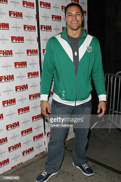 Tony Gonzales during FHM Party for the NFL Players Draft at Gypsy Tea in New York, NY, United States.