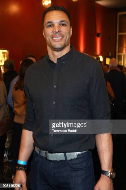 Tony Gonzalez attends the Special Screening Of '12 Strong' For MVP's Military Veterans at ArcLight Hollywood on January 9 2018 in Hollywood California