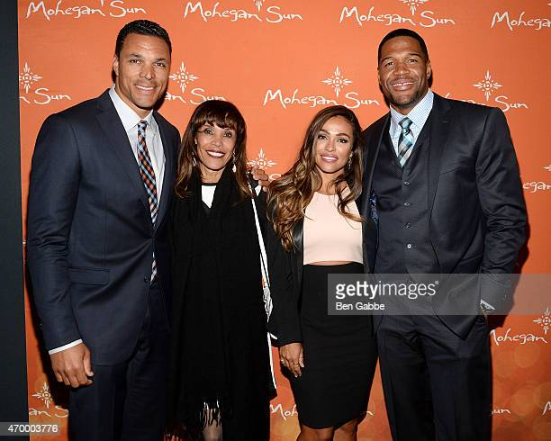 Tony Gonzalez Judy Gonzalez October Gonzalez and executive producer Michael Strahan attend the 2015 Tribeca/ESPN Sports Film Festival Gala After...
