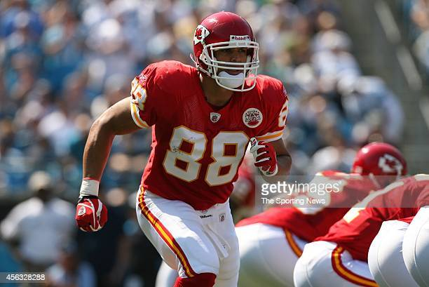 Tony Gonzalez of the Kansas City Chiefs in action during a game against the Carolina Panthers on October 5 2008 at the Bank of America stadium in...