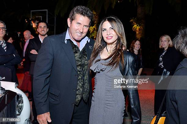 Tony Graham and Diana Roque Ellis attend LACMA Celebrates Promised Gift of The James Goldstein House on March 23 2016 in Beverly Hills California
