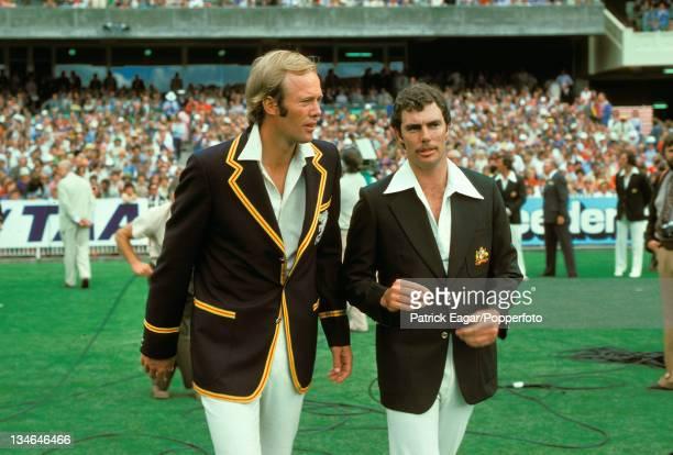Tony Greig and Greg Chappell, Australia v England, Centenary Test, Melbourne, Mar 1976-77.