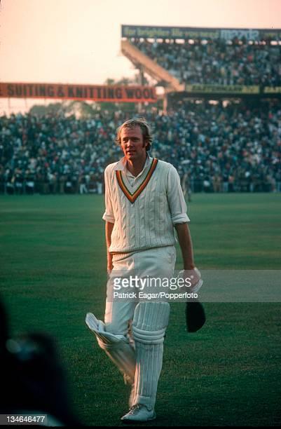 Tony Greig, India v England, 2nd Test, Calcutta, Jan 1976-77.