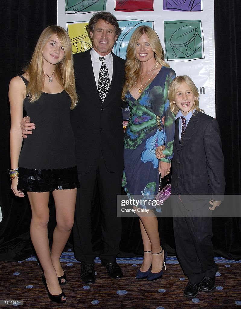 Tony Griffin (2nd L), wife Tricia, daughter Farah (L), and son Donovan Mervyn attend the 53rd Annual Young Musicians Foundation Gala, celebrating Merv Griffin, at the Beverly Hilton hotel on October 19, 2007 in Los Angeles, California.