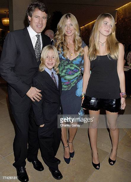 Tony Griffin wife Tricia daughter Farah and son Donovan Mervyn attend the 53rd Annual Young Musicians Foundation Gala celebrating Merv Griffin at the...