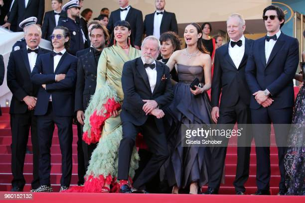 Tony Grisoni Oscar Jaenada Bruno Sevilla Jordi Molla Rossy de Palma Terry Gilliam Olga Kurylenko Stellan Skarsgard and Adam Driver attend the Closing...
