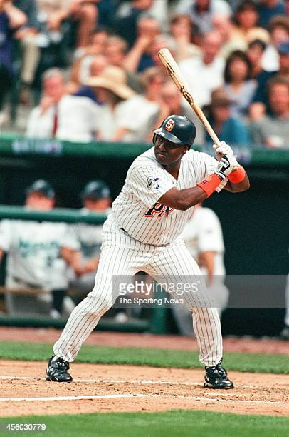 Tony Gwynn of the San Diego Padres during the All-Star Game on July 7, 1998 at Coors Field in Denver, Colorado.