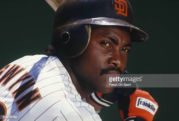 Tony Gwynn of the San Diego Padres poses for the camera