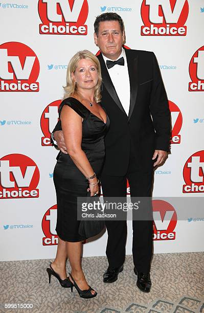 Tony Hadley and Alison Evers arrive for the TV Choice Awards at The Dorchester on September 5 2016 in London England