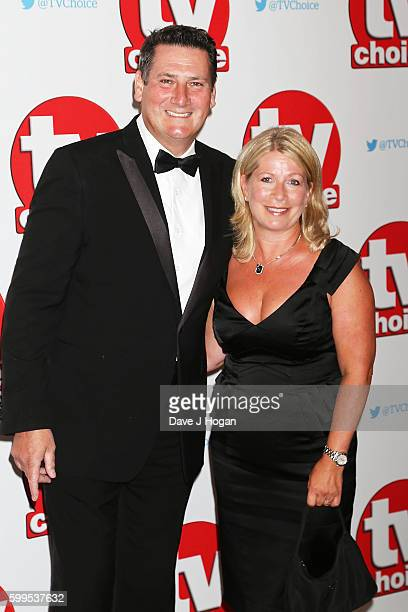 Tony Hadley and Alison Evers arrive for the TVChoice Awards at The Dorchester on September 5 2016 in London England