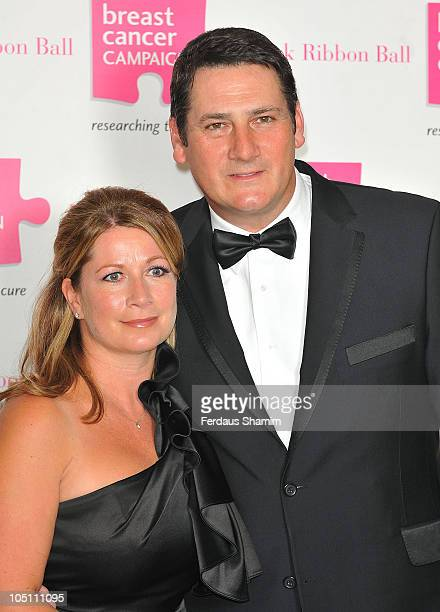 Tony Hadley and Alison Evers attend the Pink Ribbon Ball at Dorchester Hotel on October 9 2010 in London England