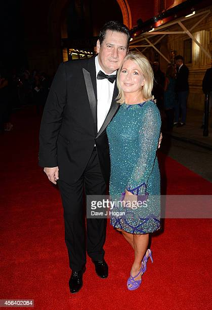 Tony Hadley and Alison Evers attend the World Premiere of 'Soul Boys Of The Western World' at Royal Albert Hall on September 30 2014 in London England