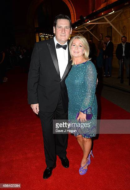 Tony Hadley and Alison Evers attend the World Premiere of Soul Boys Of The Western World at Royal Albert Hall on September 30 2014 in London England