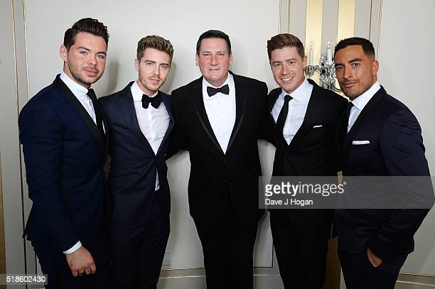 Tony Hadley and Jack Pack attend The Shooting Star Chase Ball at The Dorchester on October 3 2015 in London England