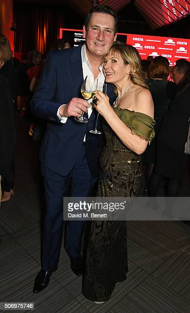 Tony Hadley and Penny Smith attend the Costa Book Of The Year Awards at Quaglino's on January 26 2016 in London England