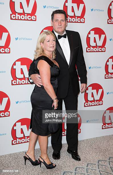Tony Hadley and wife Alison Evers arrive for the TV Choice Awards at The Dorchester Hotel on September 5 2016 in London England