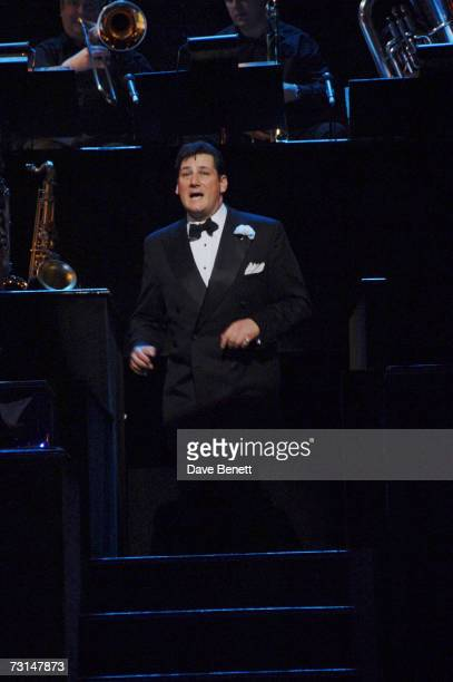Tony Hadley appears onstage in the hit musical Chicago at the Cambridge Theatre January 29 2007 in London England