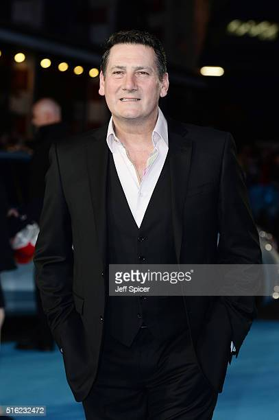 Tony Hadley arrives for the European premiere of 'Eddie The Eagle' at Odeon Leicester Square on March 17 2016 in London England