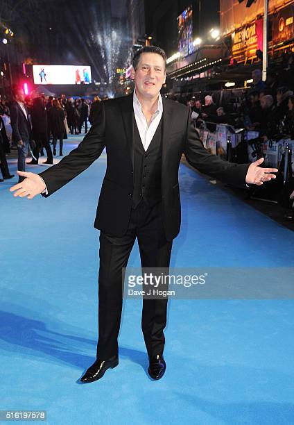 Tony Hadley attends the European premiere of 'Eddie The Eagle' at Odeon Leicester Square on March 17 2016 in London England