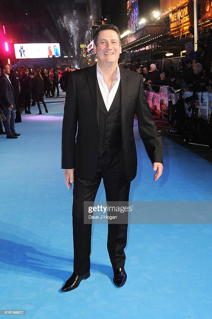 Tony Hadley attends the European premiere of 'Eddie The Eagle' at Odeon Leicester Square on March 17, 2016 in London, England.