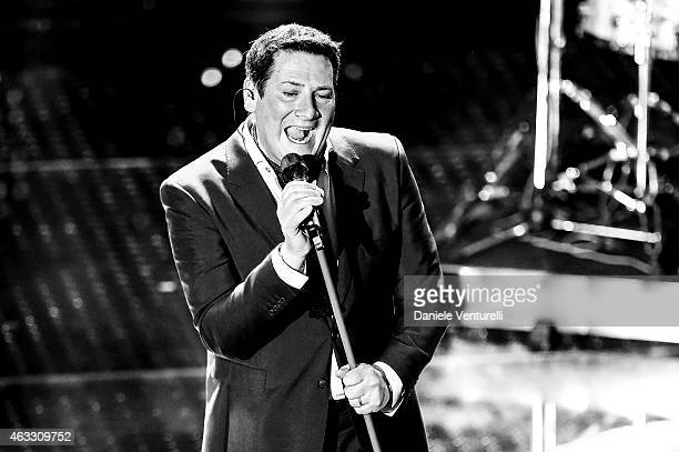 Tony Hadley attends the thirth night of 65th Festival di Sanremo on February 12 2015 in Sanremo Italy