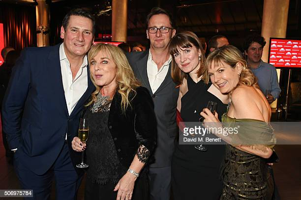 Tony Hadley Helen Lederer Vince Leigh Chrissie Manby and Penny Smith attend the Costa Book Of The Year Awards at Quaglino's on January 26 2016 in...