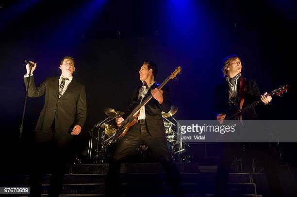 Tony Hadley Martin Kemp and Steve Norman of Spandau Ballet perform at the Palau Olimpic on March 12 2010 in Badalona Spain