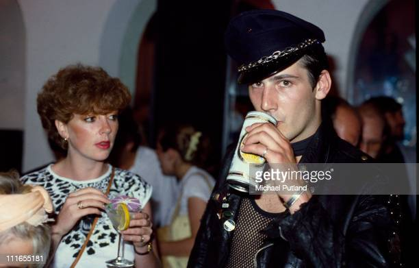 Tony Hadley of New Romantic band Spandau Ballet at a party in London 1982