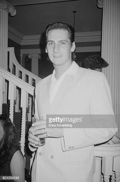 Tony Hadley of Spandau Ballet at a party at Stocks House Hertfordshire 1984