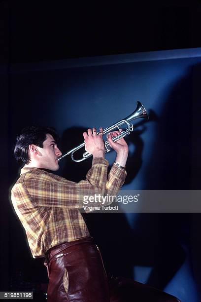 Tony Hadley of Spandau Ballet during a video shoot for their single 'Instinction' 12th March 1982