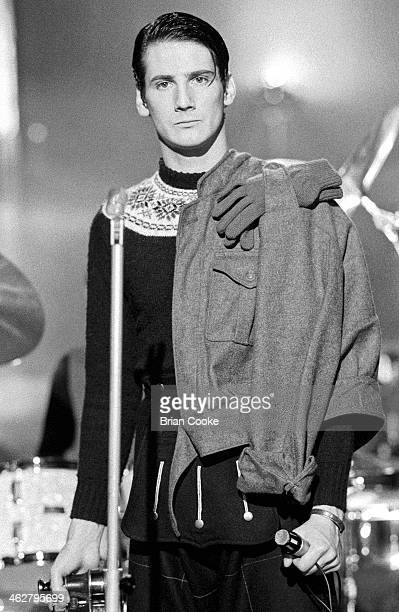 Tony Hadley of Spandau Ballet performing at The London Dungeon, Tooley Street, London during the filming of a pop video for Chrysalis Records for...