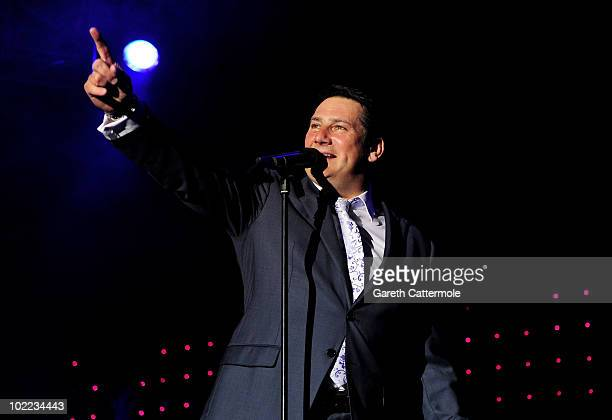 Tony Hadley of Spandau Ballet performs at the Isle Of Man Bay Festival on June 19 2010 in Douglas Isle Of Man