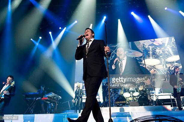 Tony Hadley of Spandau Ballet performs at the Palau Olimpic on March 12 2010 in Badalona Spain