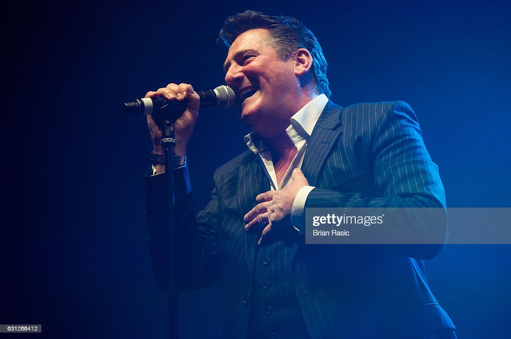 Tony Hadley of Spandau Ballet performs during a special concert Celebrating David Bowie With Gary Oldman & Friends on what wold have been Bowie's 70th birthday at O2 Academy Brixton on January 8, 2017 in London, England.