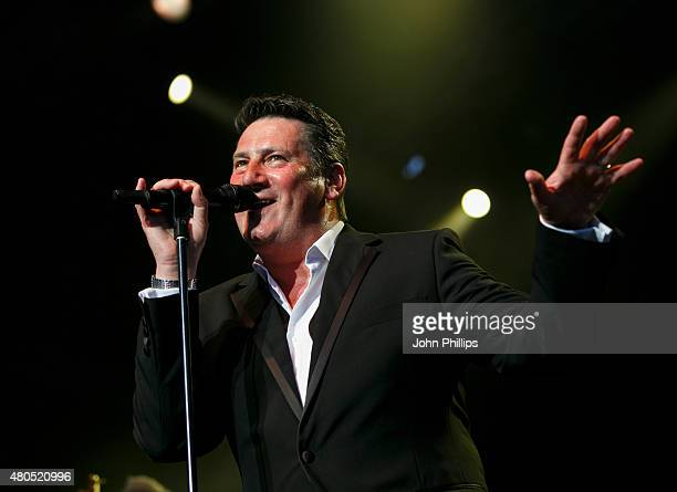 Tony Hadley of Spandau Ballet performs on Day 5 of The Henley Festival on July 12 2015 in HenleyonThames England