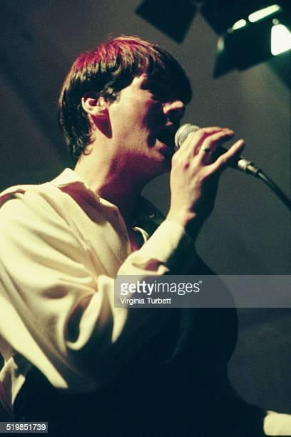 Tony Hadley of Spandau Ballet performs on stage at Birmingham Botanical Gardens 14th November 1980