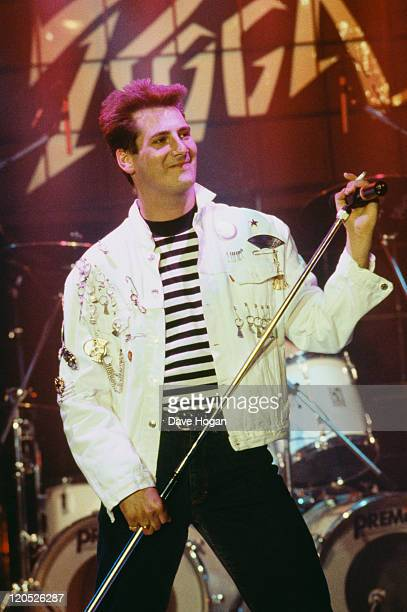 Tony Hadley of Spandau Ballet performs on stage at the Montreux Rock Festival Montreux Switzerland May 1987