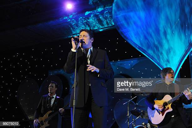 Tony Hadley of Spandau Ballet performs on stage during the Variety Club Showbiz Awards at the Grosvenor House on November 15 2009 in London England