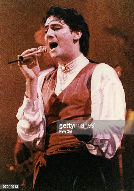 Tony Hadley of Spandau Ballet performs on stage on the 'Parade' tour at Wembley Arena on December 8th, 1984 in London, England.