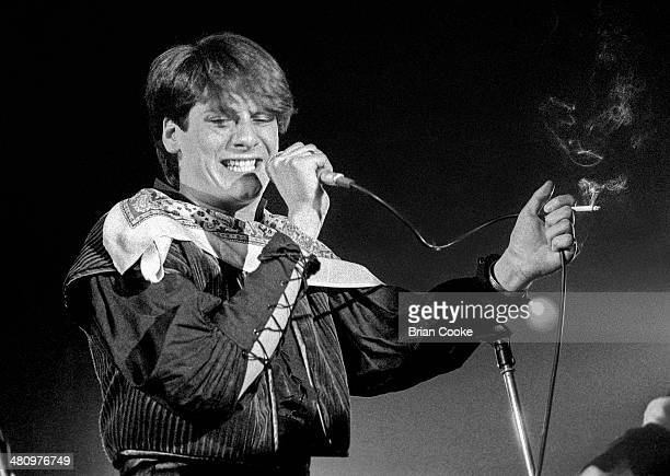 Tony Hadley performing with Spandau Ballet at the Sundown Theatre Charing Cross Road London 18th March 1981