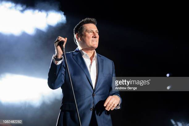 Tony Hadley performs live at the Audio and Radio Industry Awards at First Direct Arena Leeds on October 18 2018 in Leeds England