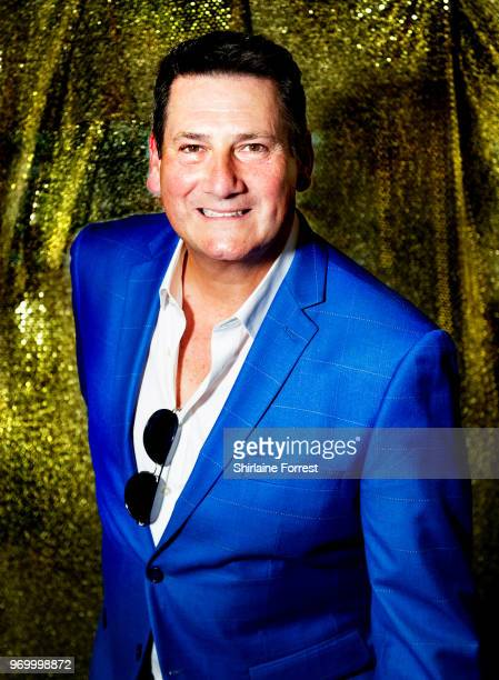 Tony Hadley poses backstage after meeting fans and signing copies of his new album 'Talking To The Moon' at HMV Manchester on June 8 2018 in...