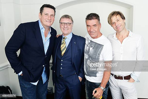 Tony Hadley Steve Harley John Keeble and Steve Norman attend the World Premiere of Soul Boys Of The Western World at Royal Albert Hall on September...