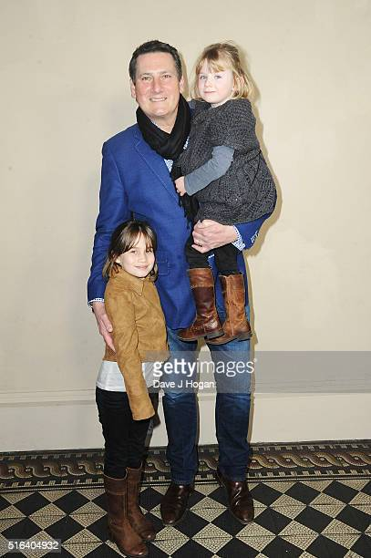 Tony Hadley with his daughters Genevieve and Zara attend Gary Barlow's live showcase of 'Fly' an album of songs inspired by the new film 'Eddie the...