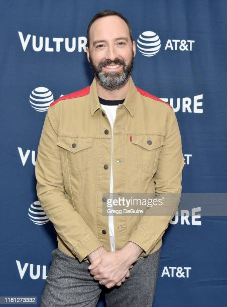 Tony Hale arrives at the Vulture Festival Los Angeles 2019 Day 1 at Hollywood Roosevelt Hotel on November 9 2019 in Hollywood California