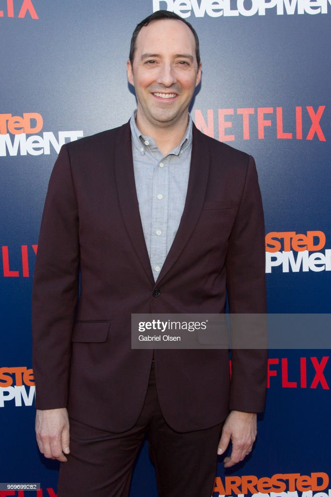 Tony Hale arrives for the premiere of Netflix's 'Arrested Development' Season 5 at Netflix FYSee Theater on May 17, 2018 in Los Angeles, California.
