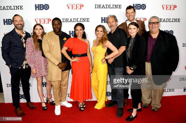 Tony Hale, Sarah Sutherland, Sam. Richardson, Julia Louis-Dreyfus, Anna Chlumsky, Gary Cole, Timothy Simons, Clea DuVall and David Mandel attend HBO...